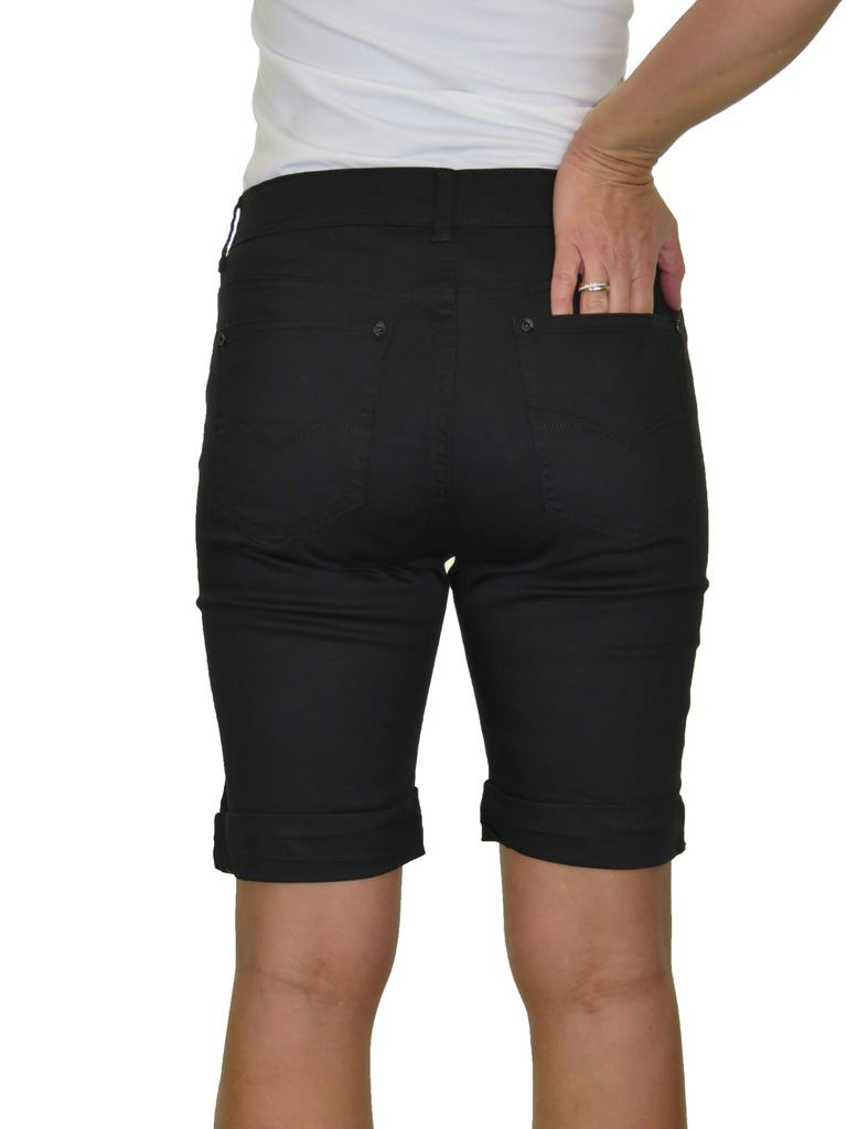 Ladies-Stretch-Stretch-Plus-Size-Jeans-Style-Shorts-Chino-Sheen-14-24 thumbnail 8