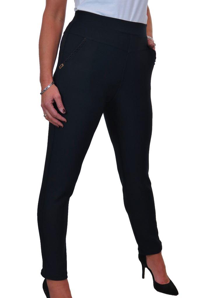 1551 High Rise Stretch Leggings Trousers Side Pockest Detail 14-20