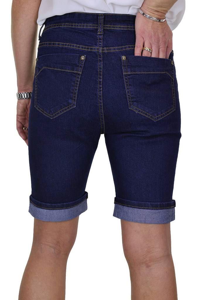 Donna Stretch Jean Stile Pantaloncini Di Jeans diamante dettaglio su polsino 10-24