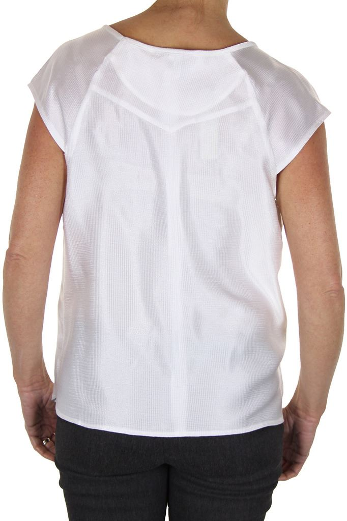 Womens-Evening-Silky-Feel-Textured-Top-With-Shine-Loose-Fit-8-12 thumbnail 8