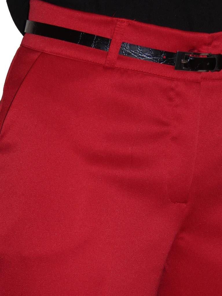 Ladies-Smart-Crop-Capri-Trousers-Matt-Satin-Evening-Easy-Fit-With-Belt-NEW-8-22 thumbnail 17