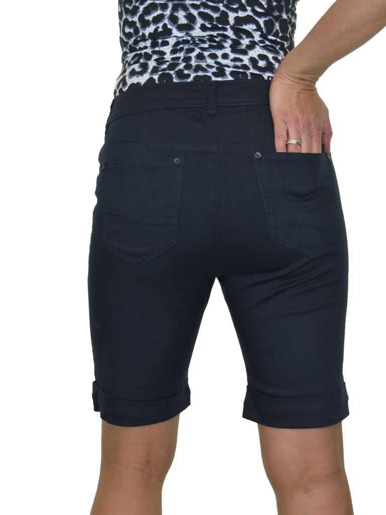 Ladies-Stretch-Stretch-Plus-Size-Jeans-Style-Shorts-Chino-Sheen-14-24 thumbnail 14