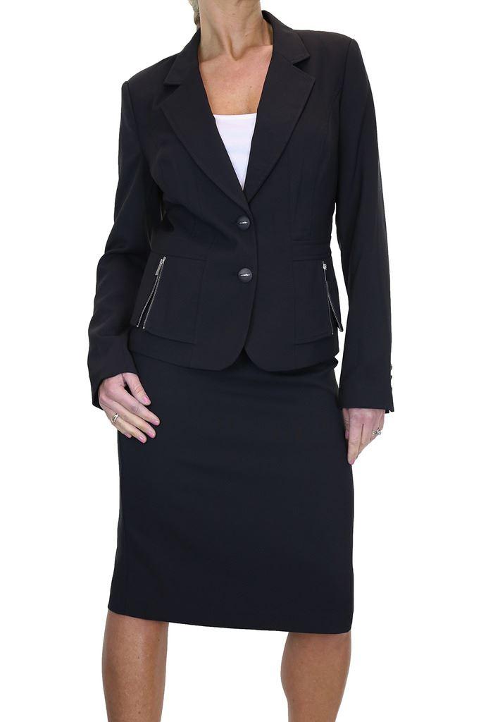 Gonna da donna ghiaccio ghiaccio ghiaccio Vestito Business Ufficio Blazer su misura 12-24 490b90