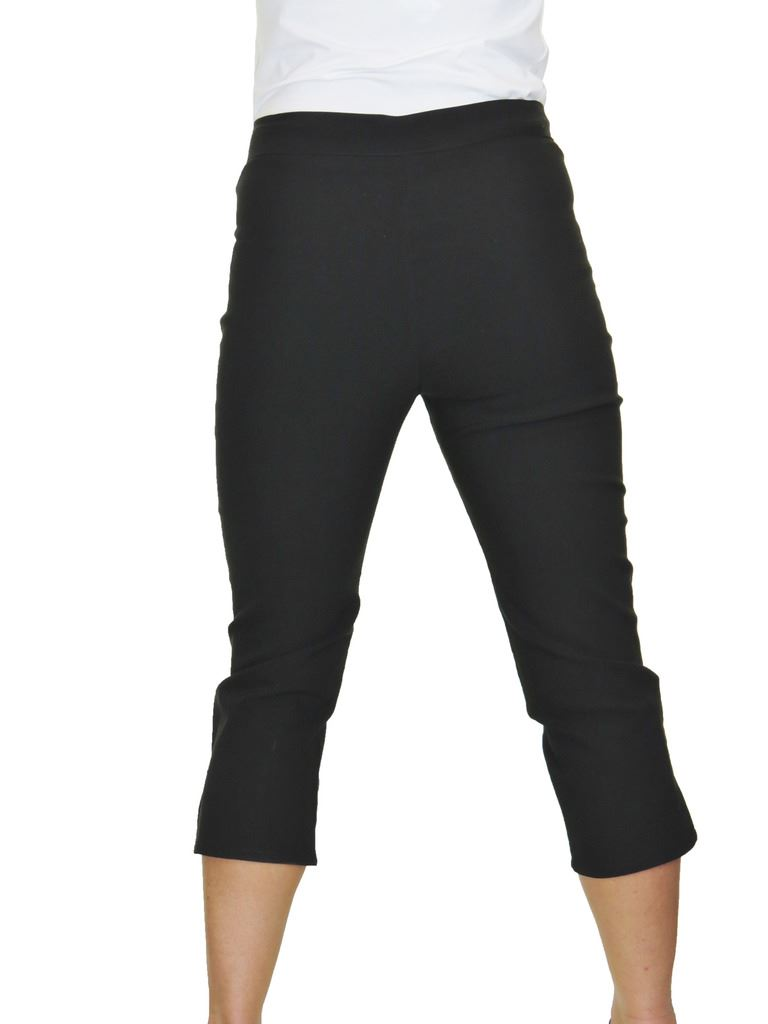 dbedec9cd7258 Ice Womens High Waist SKINNY Stretch Pedal Pushers Cropped Trousers ...