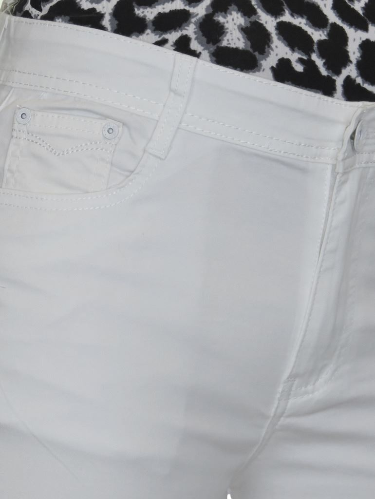 Ladies-Stretch-Stretch-Plus-Size-Jeans-Style-Shorts-Chino-Sheen-14-24 thumbnail 26