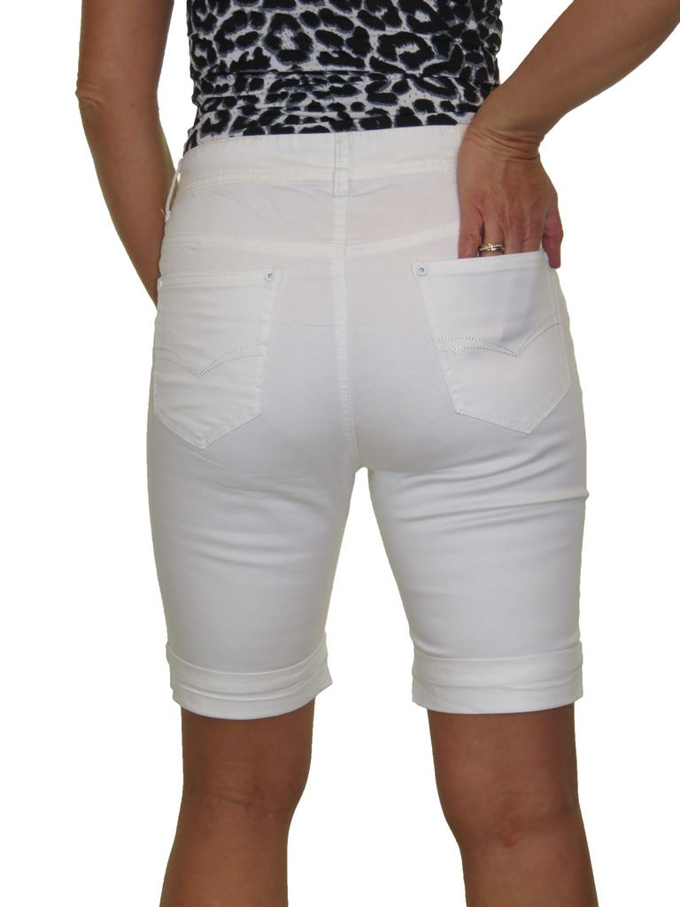 Ladies-Stretch-Stretch-Plus-Size-Jeans-Style-Shorts-Chino-Sheen-14-24 thumbnail 24
