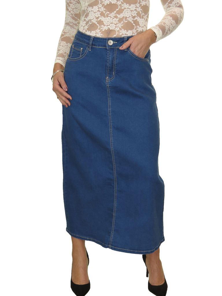 maxi skirt stretch denim soft wash 12 22 ebay