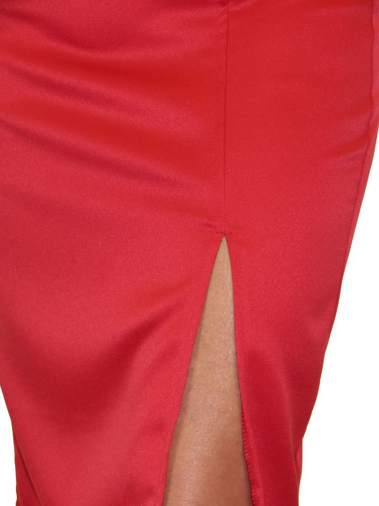 2552-Front-Slit-Evening-Bodycon-Satin-Look-Pencil-Skirt-6-18 thumbnail 14