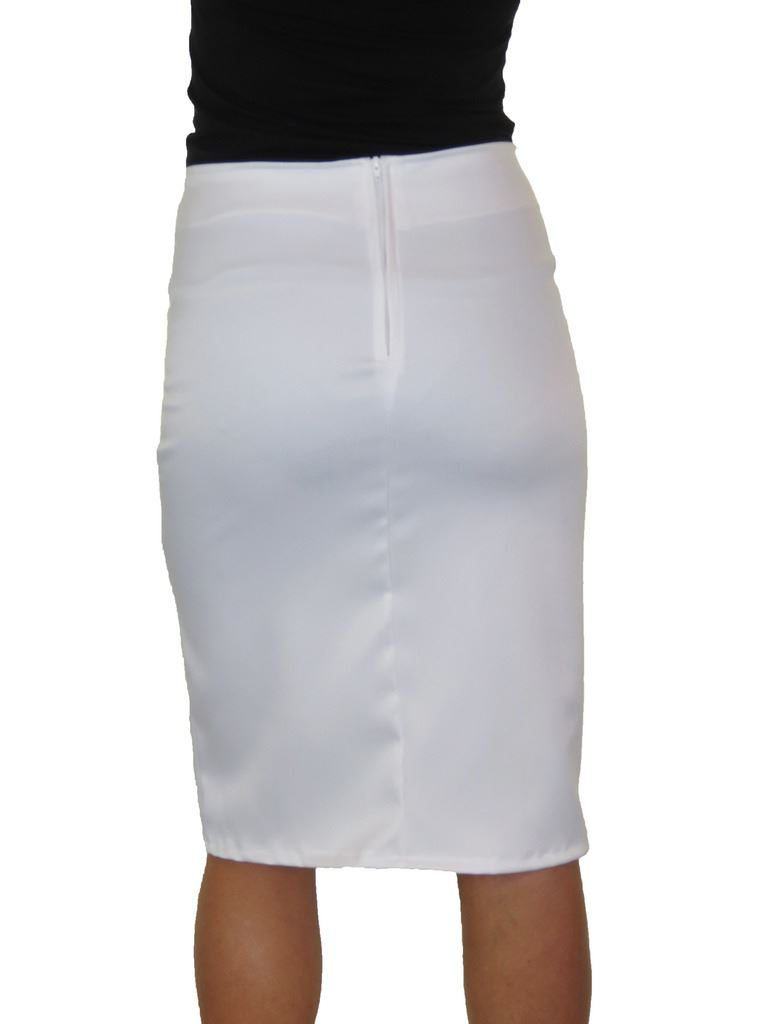 ICE-2552-Front-Thigh-Split-Midi-Stretch-Bodycon-Pencil-Skirt-6-18 thumbnail 18