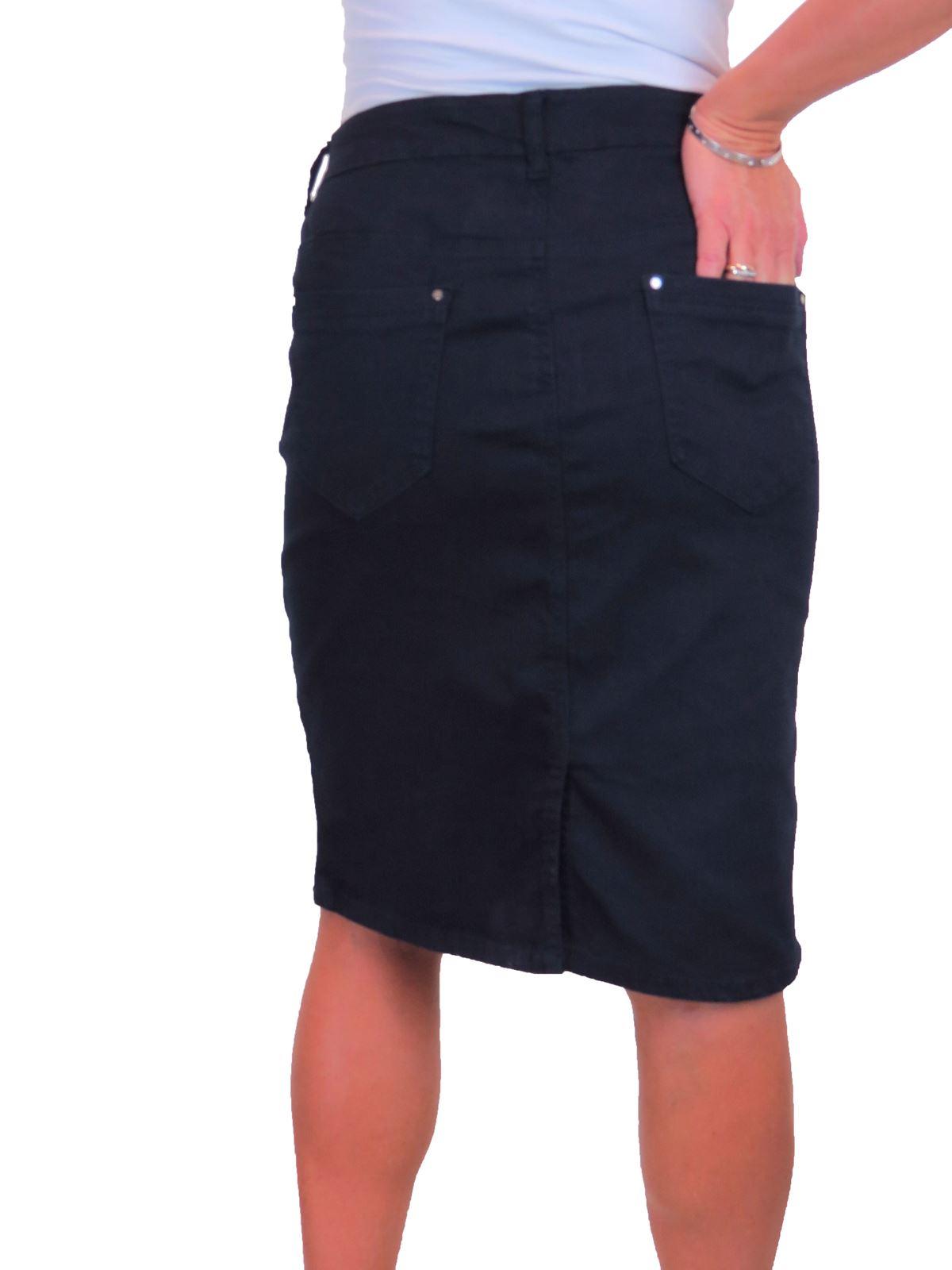ICE-Womens-Good-Stretch-Jeans-Skirt-Knee-Length-14-22 thumbnail 16