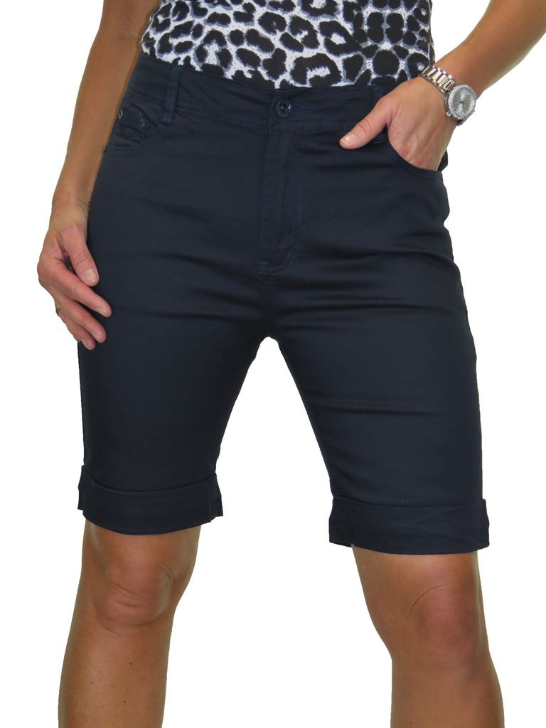 Ladies-Stretch-Stretch-Plus-Size-Jeans-Style-Shorts-Chino-Sheen-14-24 thumbnail 17