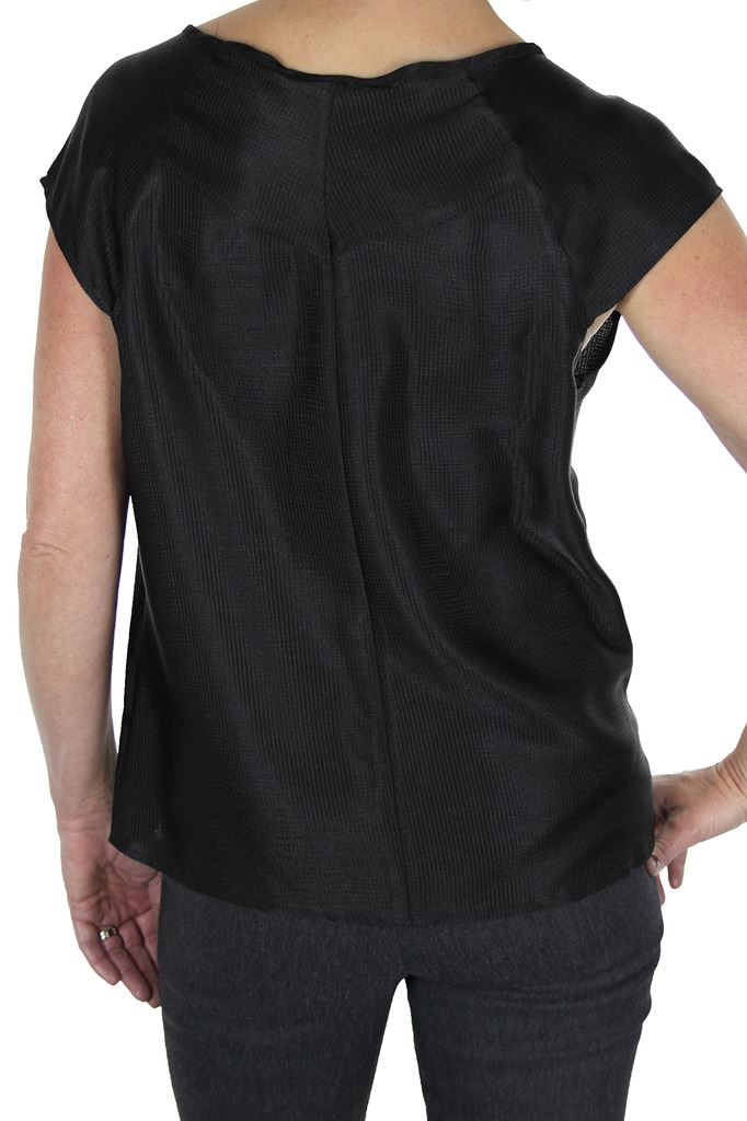 Womens-Evening-Silky-Feel-Textured-Top-With-Shine-Loose-Fit-8-12 thumbnail 4