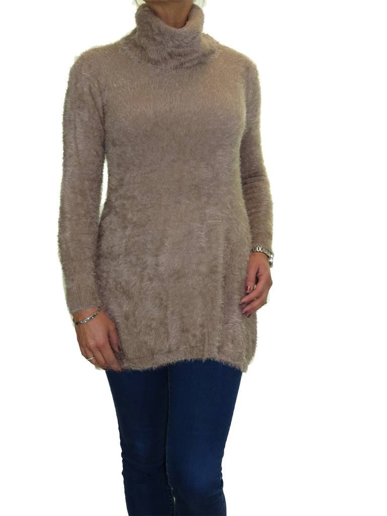 Living Room Decor Trends 2018: NEW Ladies Super Soft Fluffy Knit Roll Neck Tunic Jumper