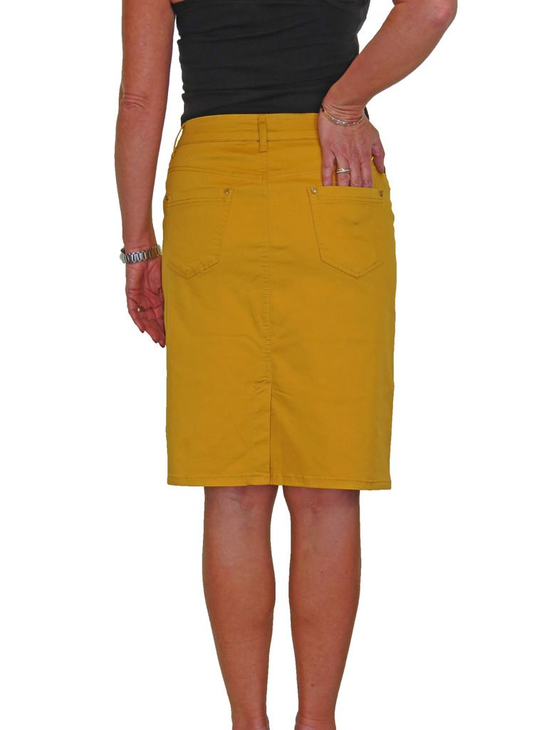 ICE-Stretch-Chino-Jeans-Style-Below-Knee-Pencil-Skirt-10-22 thumbnail 12