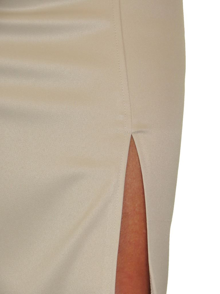 2552-Front-Slit-Evening-Bodycon-Satin-Look-Pencil-Skirt-6-18 thumbnail 4