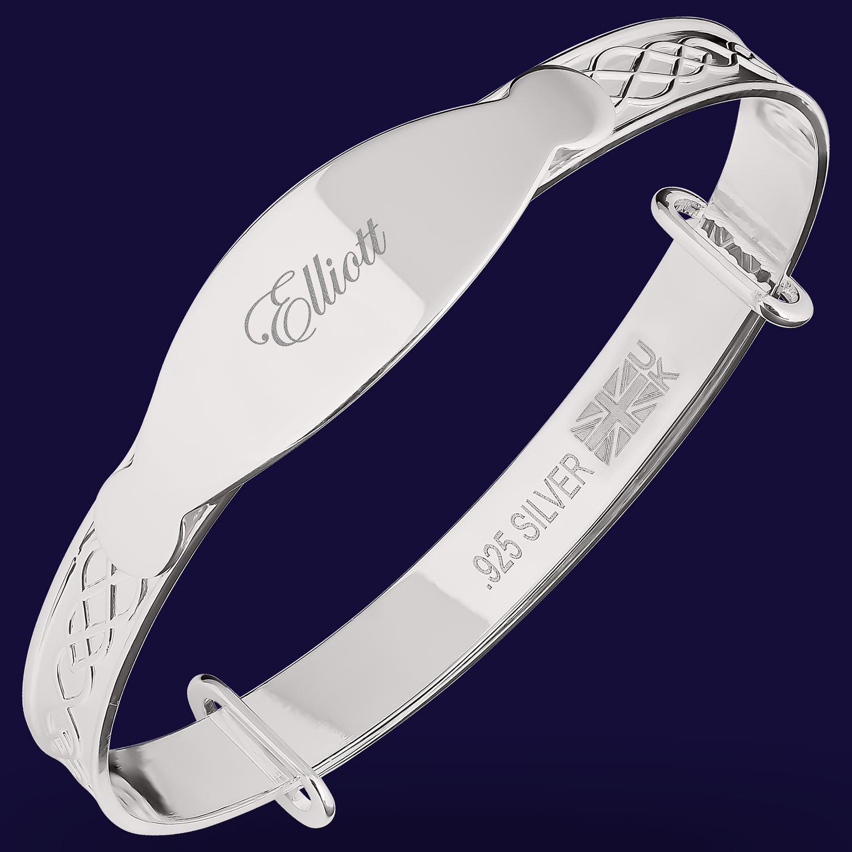 Elliott-Baby-Boy-Christening-Bracelet-Bangle-Gift-Custom-Engrave-Newborn-Present thumbnail 17