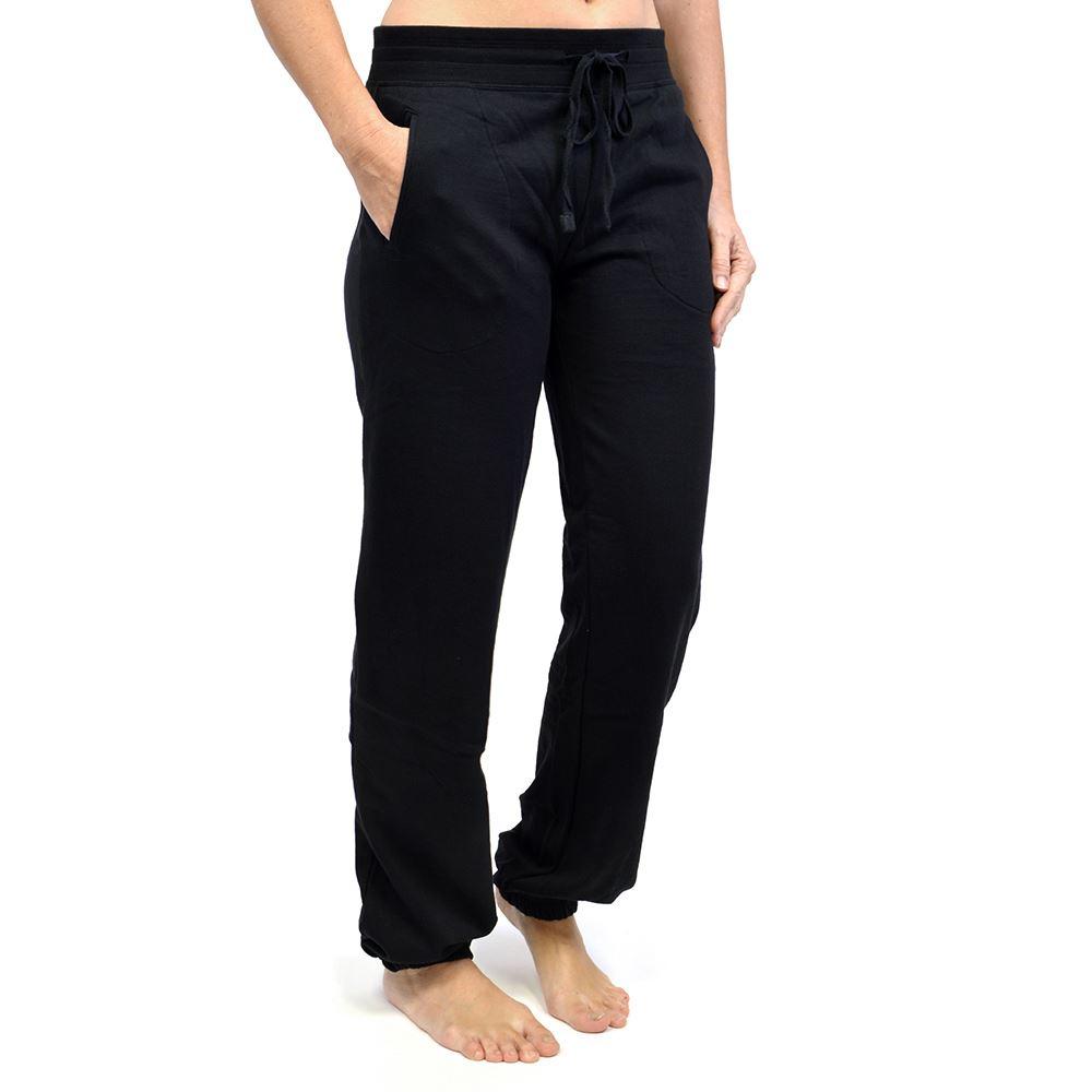 Navy or Grey Ladies Tom Franks Jogging Pants with Cuff Leg Black