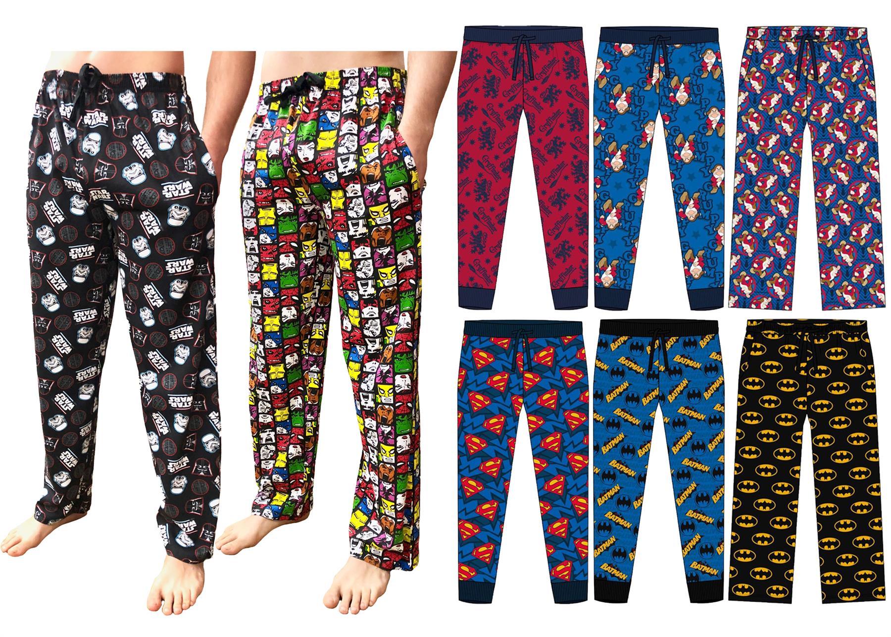 Herren Character Lounge Schlafanzughose Schlafanzug Hose