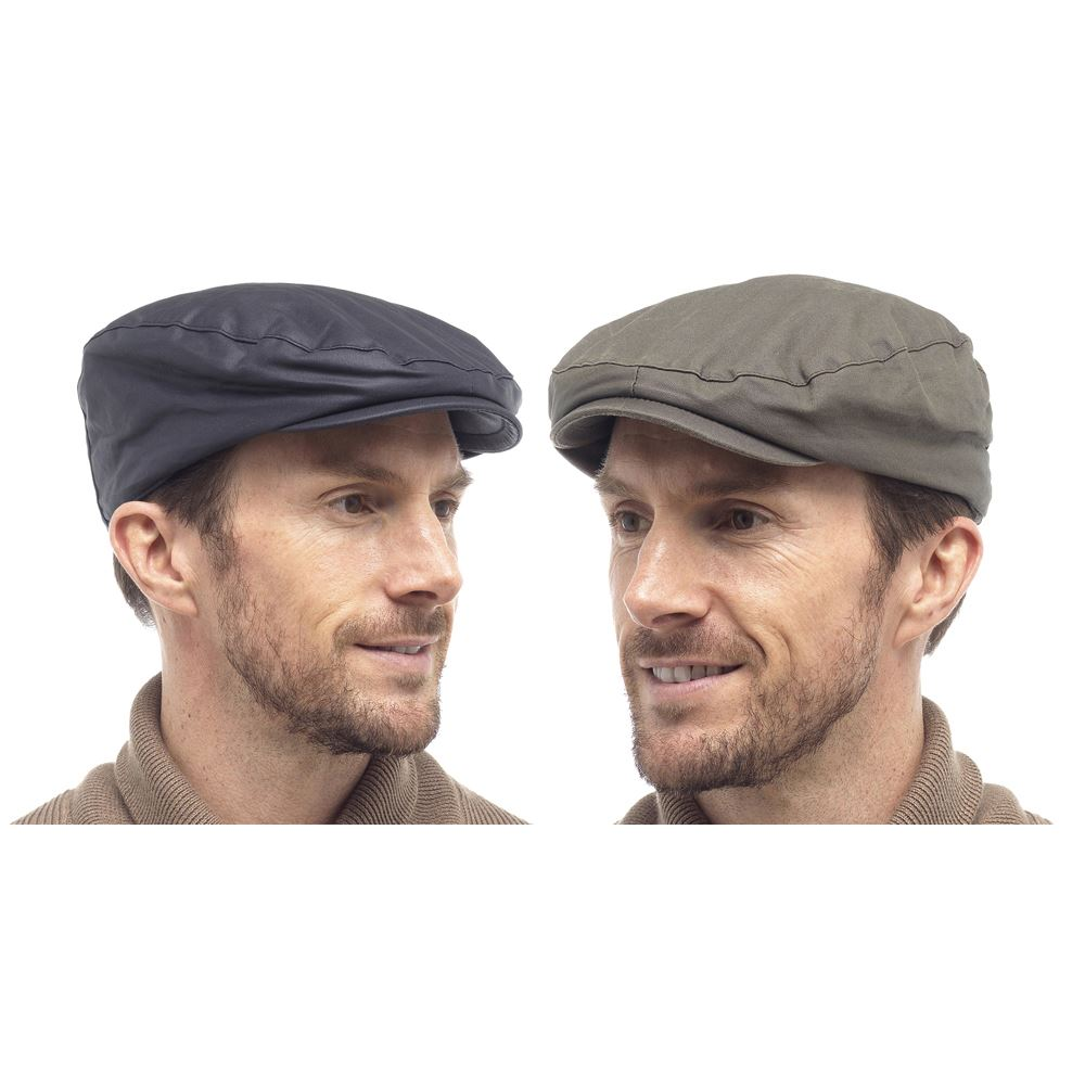 Mens Harvey James Waxed Finish Outdoors Fishermans Hat Wax MA243 Navy or Olive