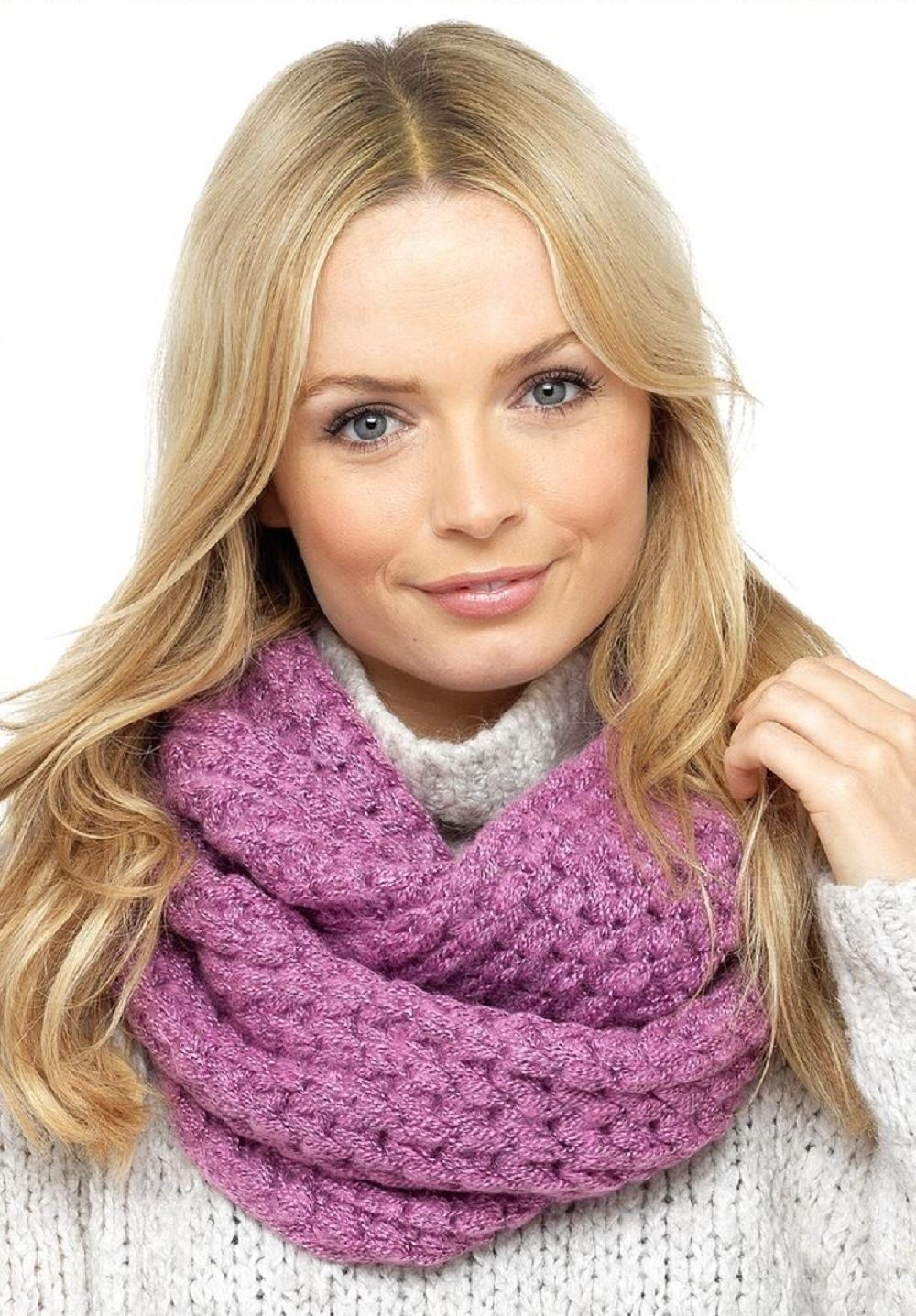 Ladies Foxbury Snood Loop Scarf Winter Accessory Chunky Cable Knit Warm GL555
