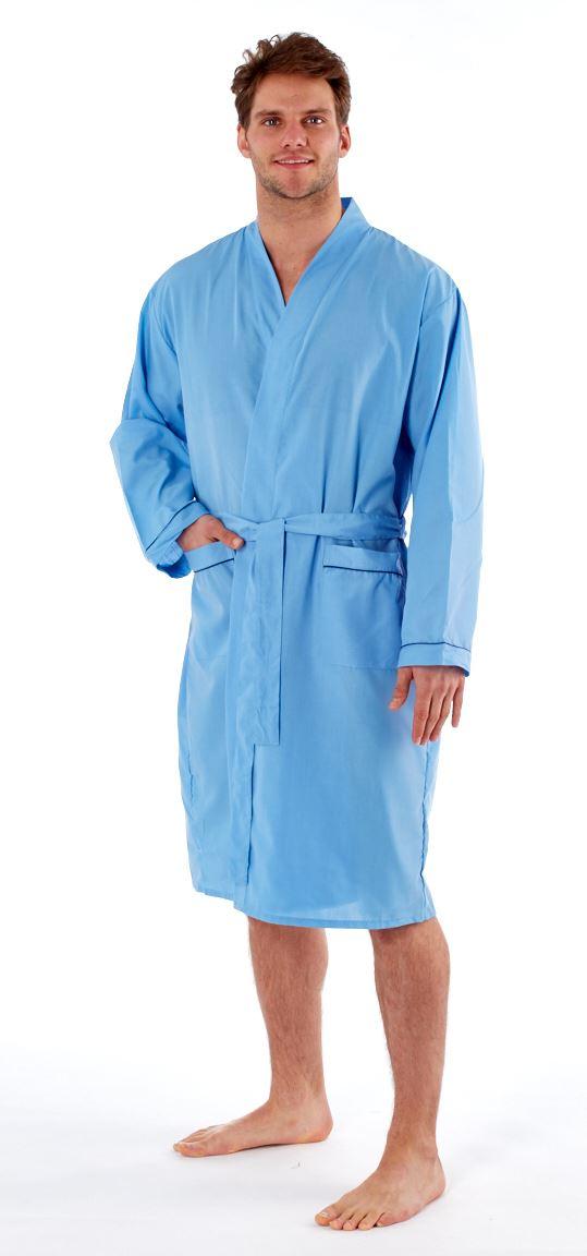 Harvey James Summer Poly Cotton Mens Kimono Dressing Gown Robe Wrap ...