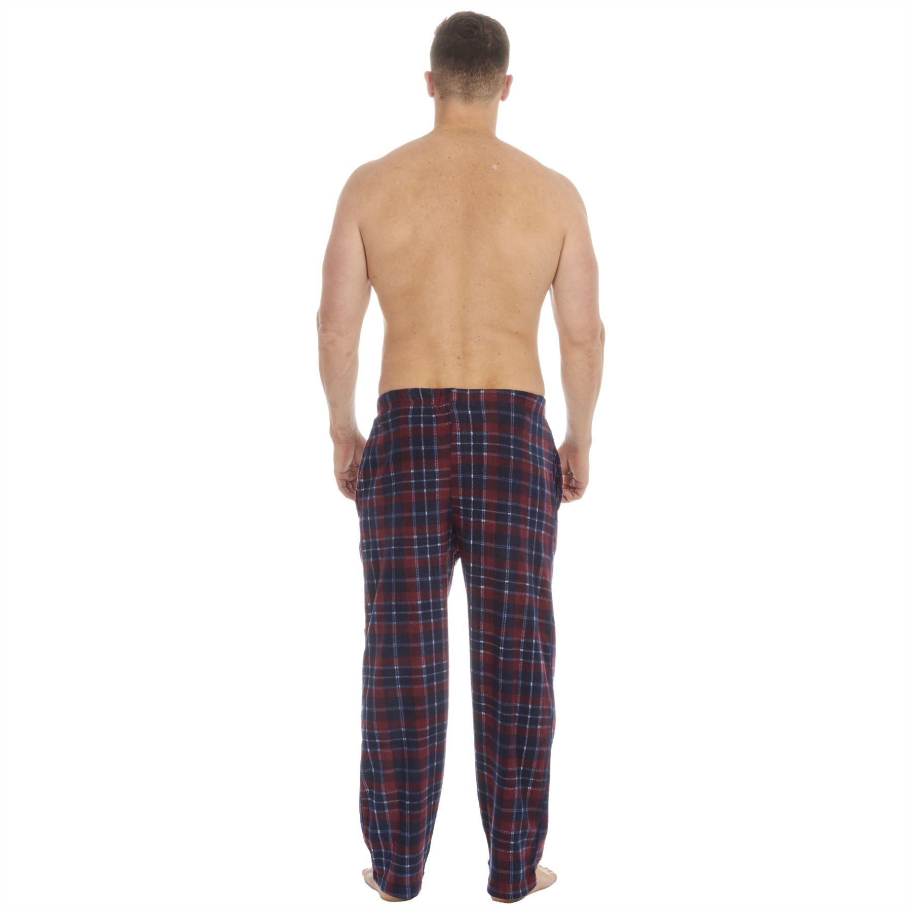 Hombre Suave Microfleece Cuadros Salon Pantalones Pantalon De Pijama Ebay