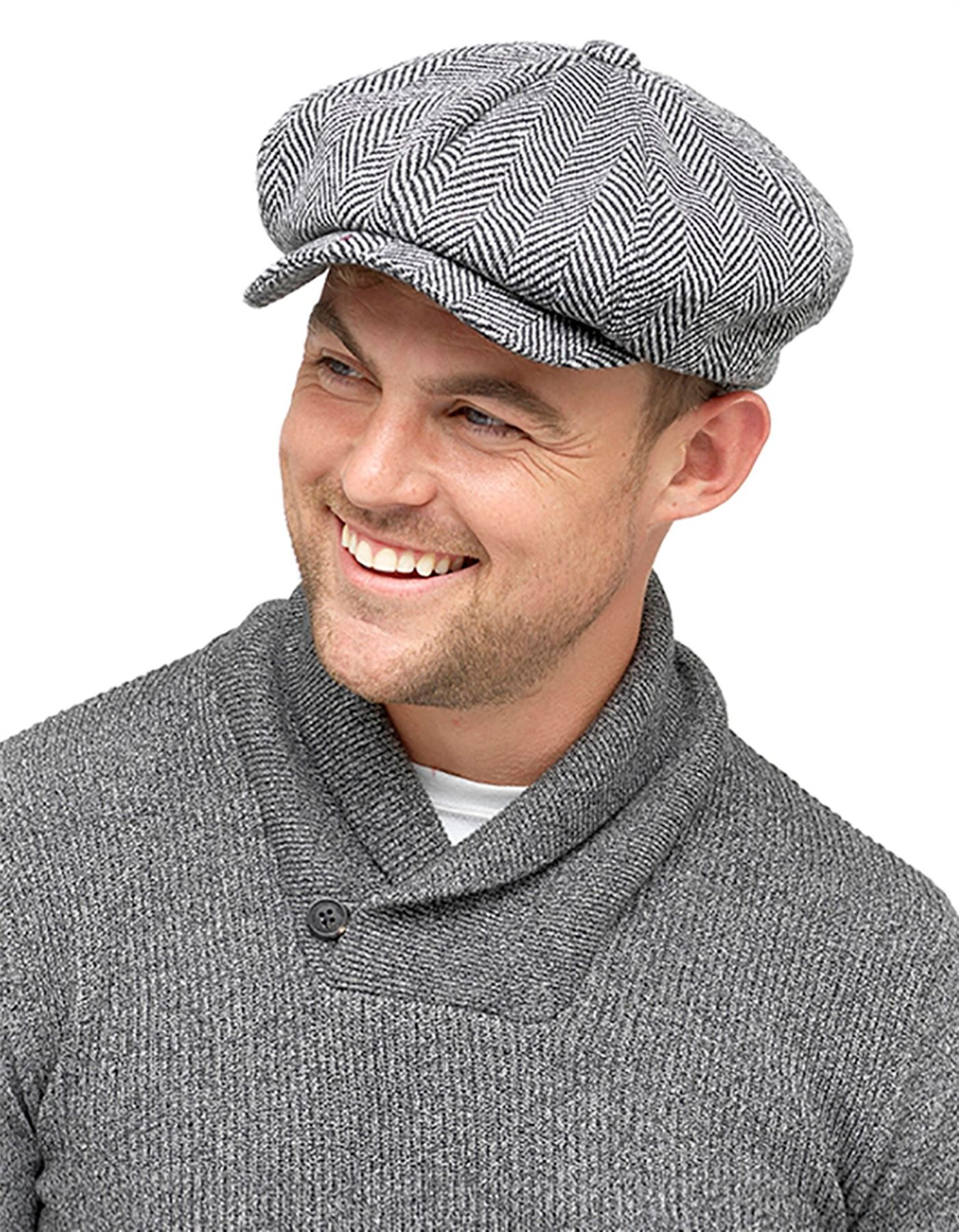 3 sizes available £6.99  only Tweed Winter wool mix Mens cap