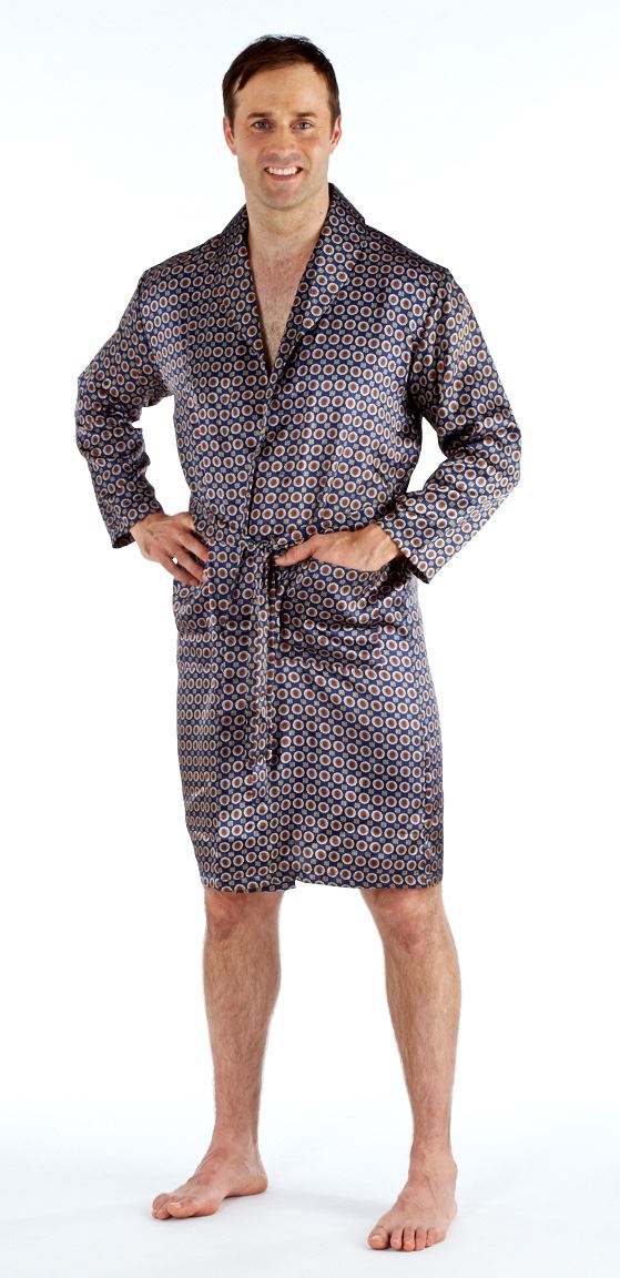 Harvey James Mens Lightweight Paisley Satin Kimono Dressing Gown ...