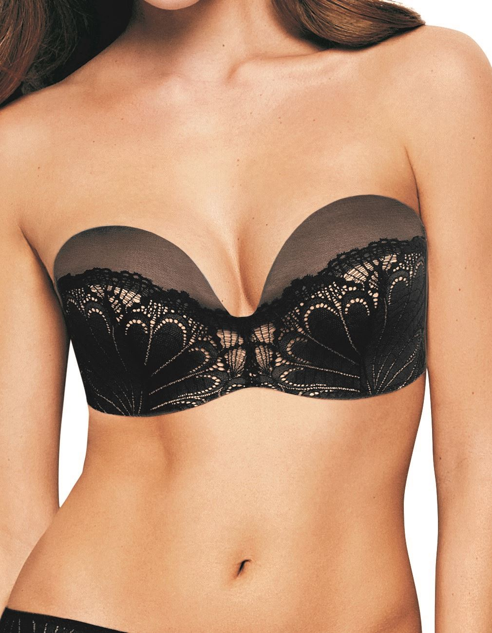 98d0ee4660e3 Wonderbra Ultimate Strapless Lace Refined Glamour Bra W031u Black 32 D.  About this product. Picture 1 of 2; Picture 2 of 2
