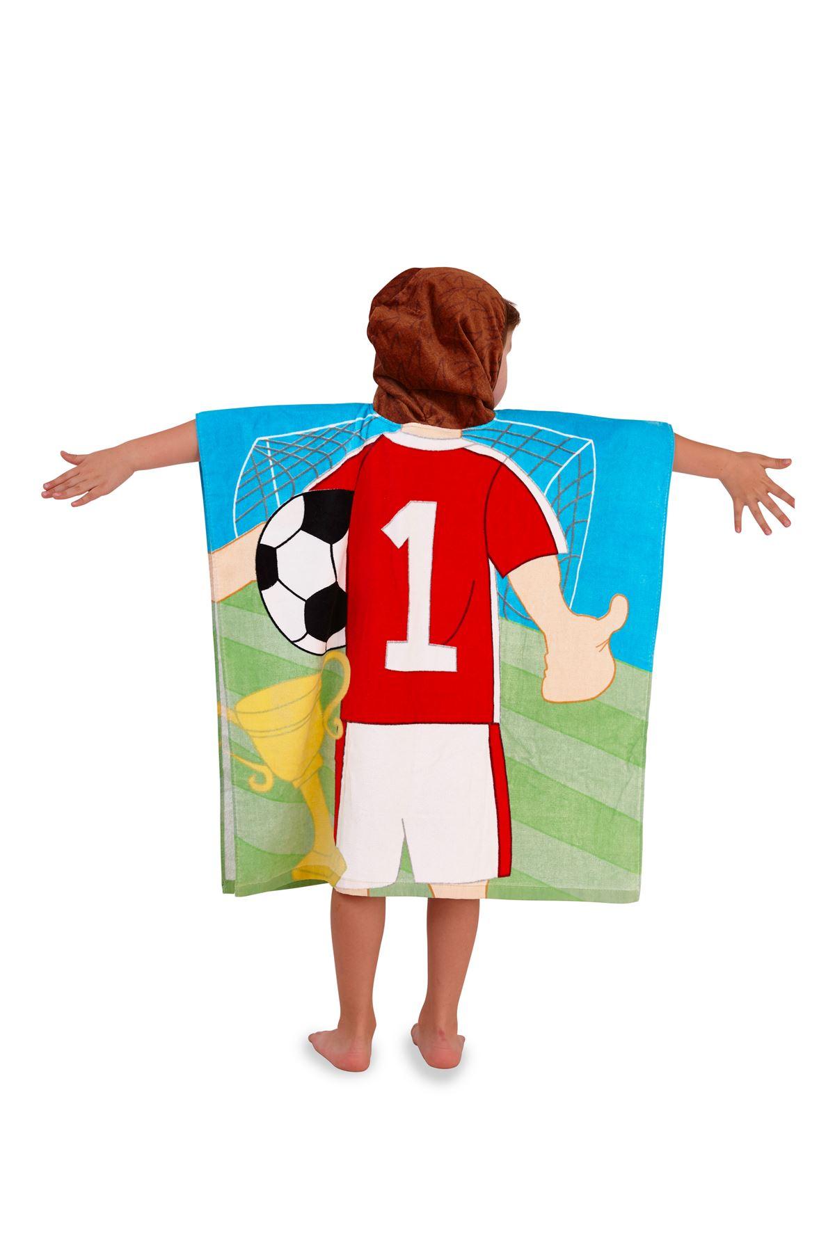 Childrens-Kids-Boys-Girls-Novelty-Hooded-Poncho-Swimming-Swim-Bath-Beach-Towel thumbnail 11