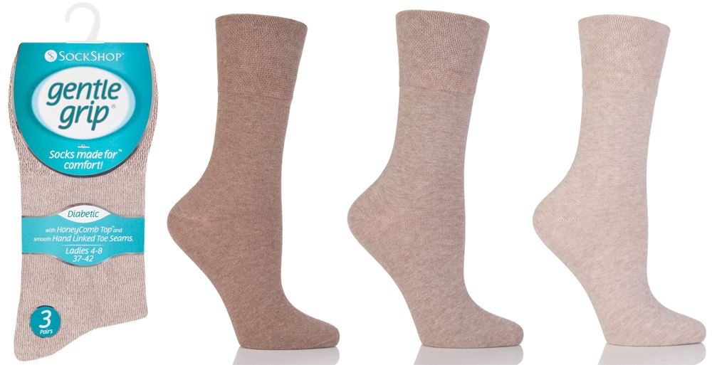 LADIES 12//6prs NON ELASTIC EASY GRIP DIABETIC SOCKS TRAVELLING FORMAL SOCKS