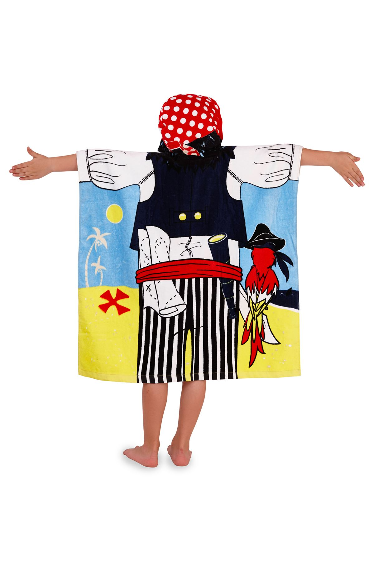Childrens-Kids-Boys-Girls-Novelty-Hooded-Poncho-Swimming-Swim-Bath-Beach-Towel thumbnail 15