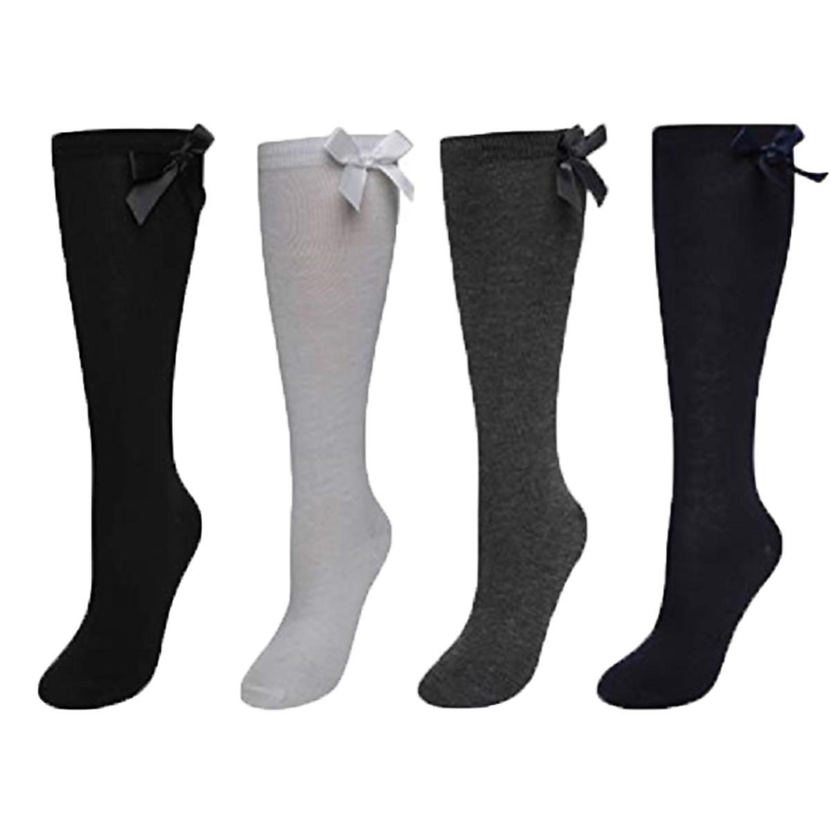Ladies Women Girls Long Knee High Plain Comfort Style Socks UK 9-12 EUR 27-30