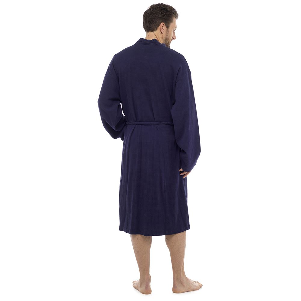 Mens-Undercover-Soft-Cotton-Lightweight-Dressing-Gown-Bath-Robe-Waffle-or-Jersey thumbnail 7