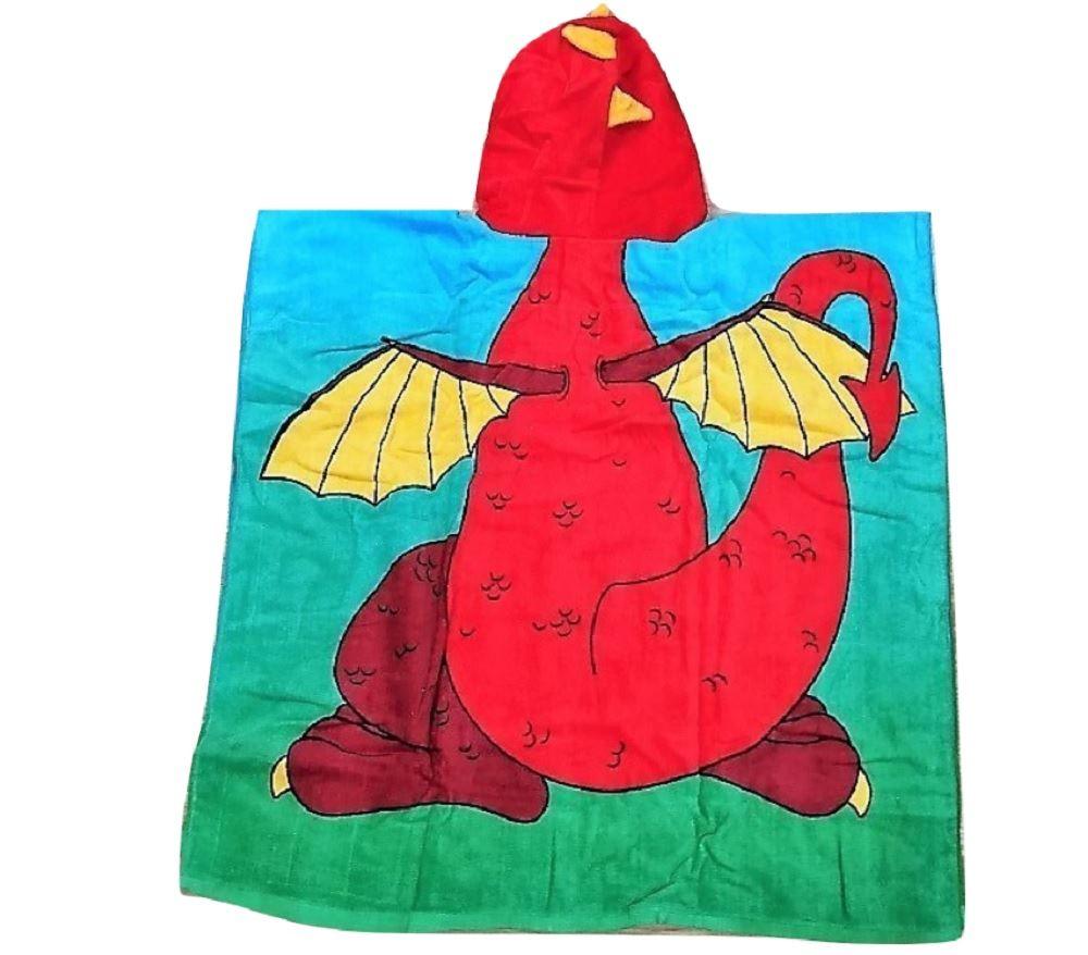Childrens-Kids-Boys-Girls-Novelty-Hooded-Poncho-Swimming-Swim-Bath-Beach-Towel thumbnail 9