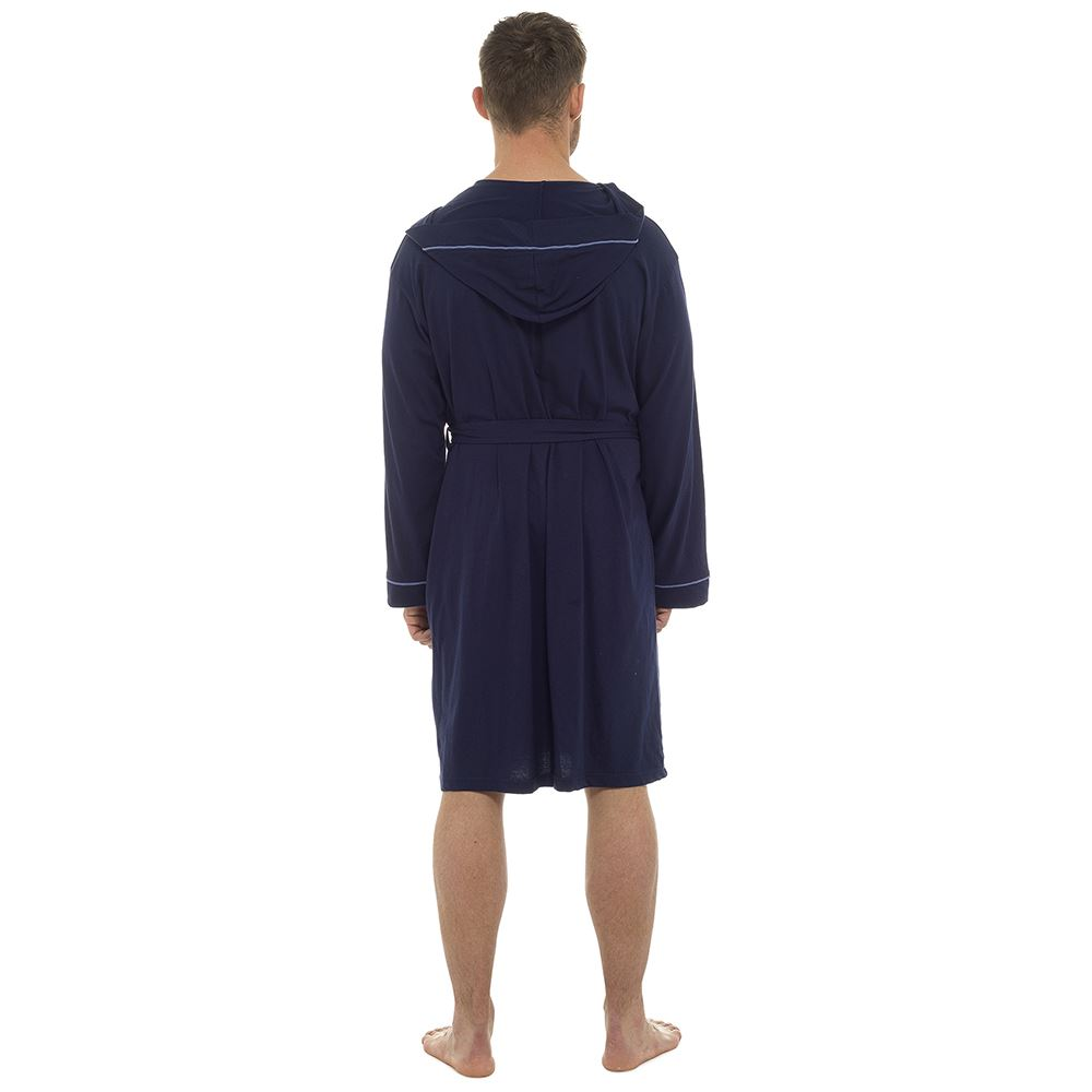Mens-Undercover-Soft-Cotton-Lightweight-Dressing-Gown-Bath-Robe-Waffle-or-Jersey thumbnail 11