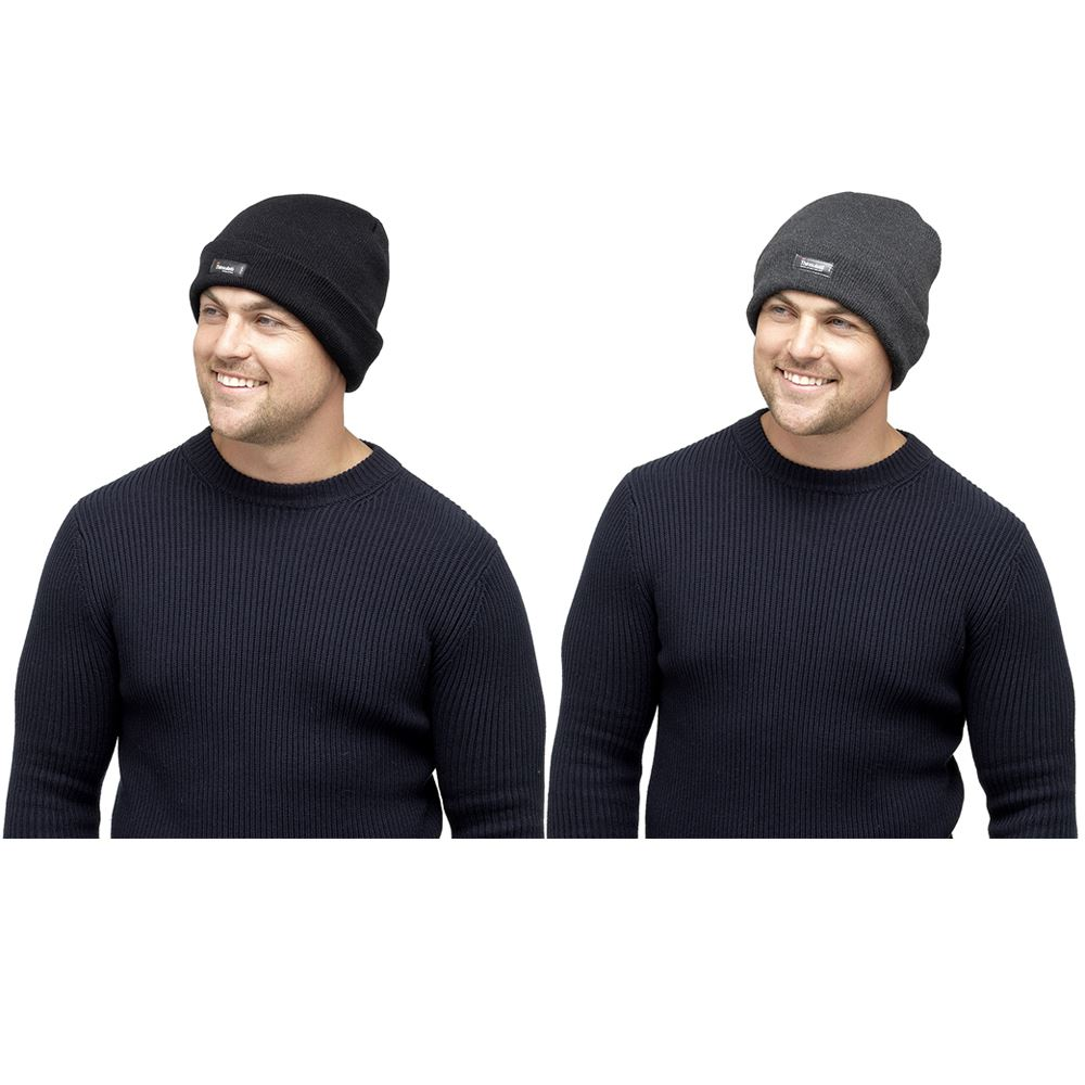 Mens Thinsulate Thermal Winter Hat Black GL219