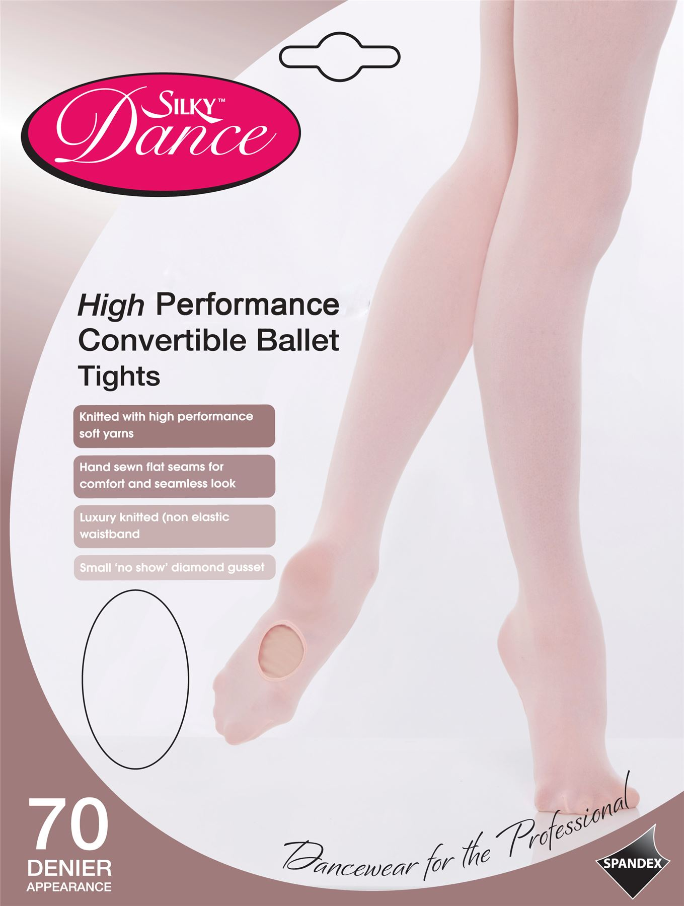 90ee08a5387 Details about Womens Silky Dance High Performance Convertible Ballet Tights  Theatrical Pink