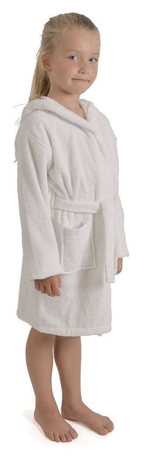 Boys Girls Kids Childrens Hooded Towelling Dressing Gown Wrap Robe