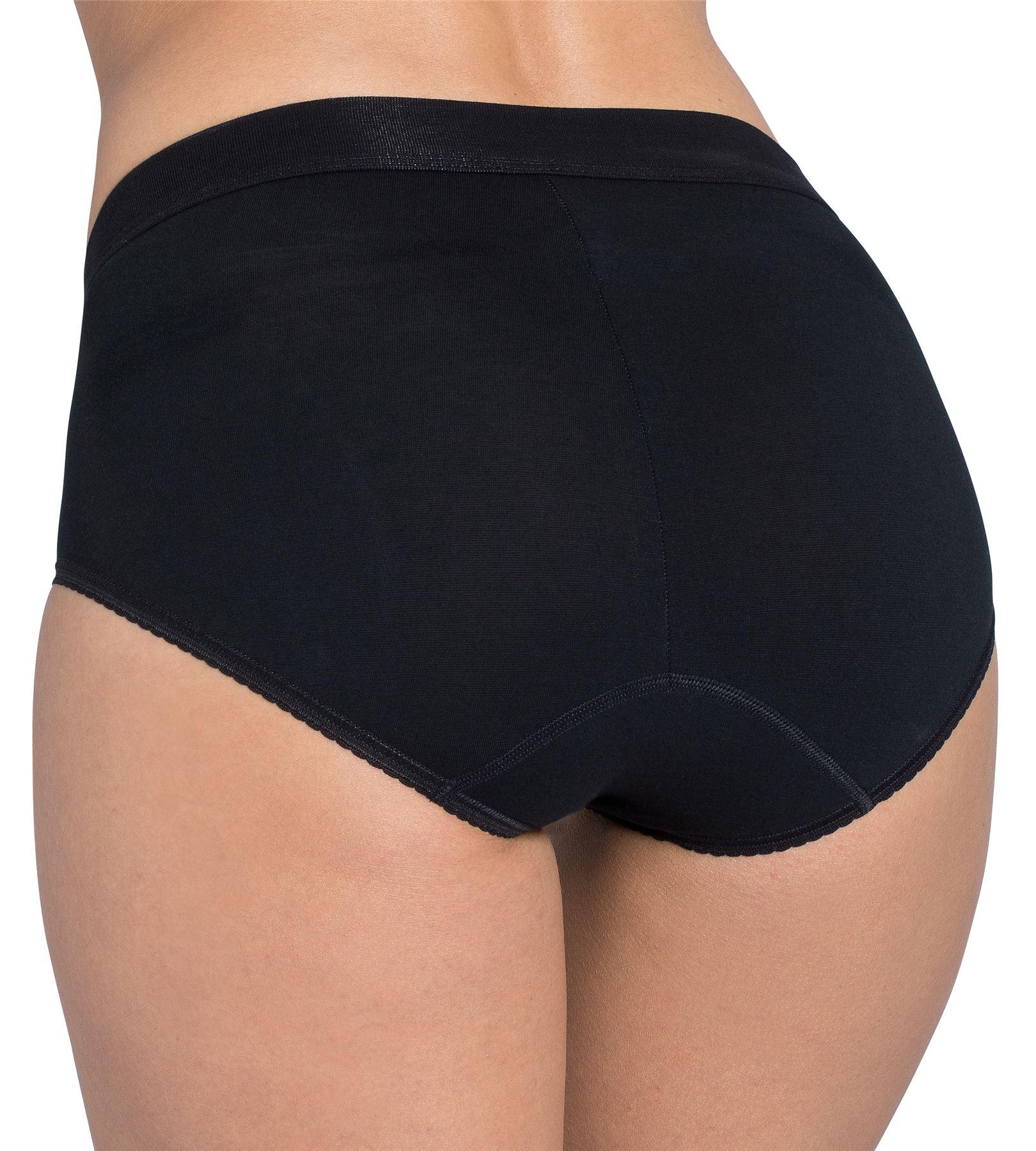 Womens Ladies Sloggi Double Comfort Cotton Rich Maxi Brief White or Black