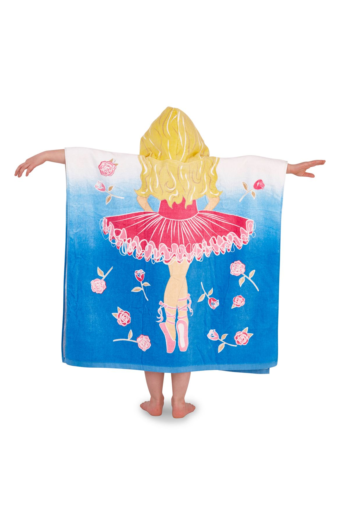 Childrens-Kids-Boys-Girls-Novelty-Hooded-Poncho-Swimming-Swim-Bath-Beach-Towel thumbnail 3