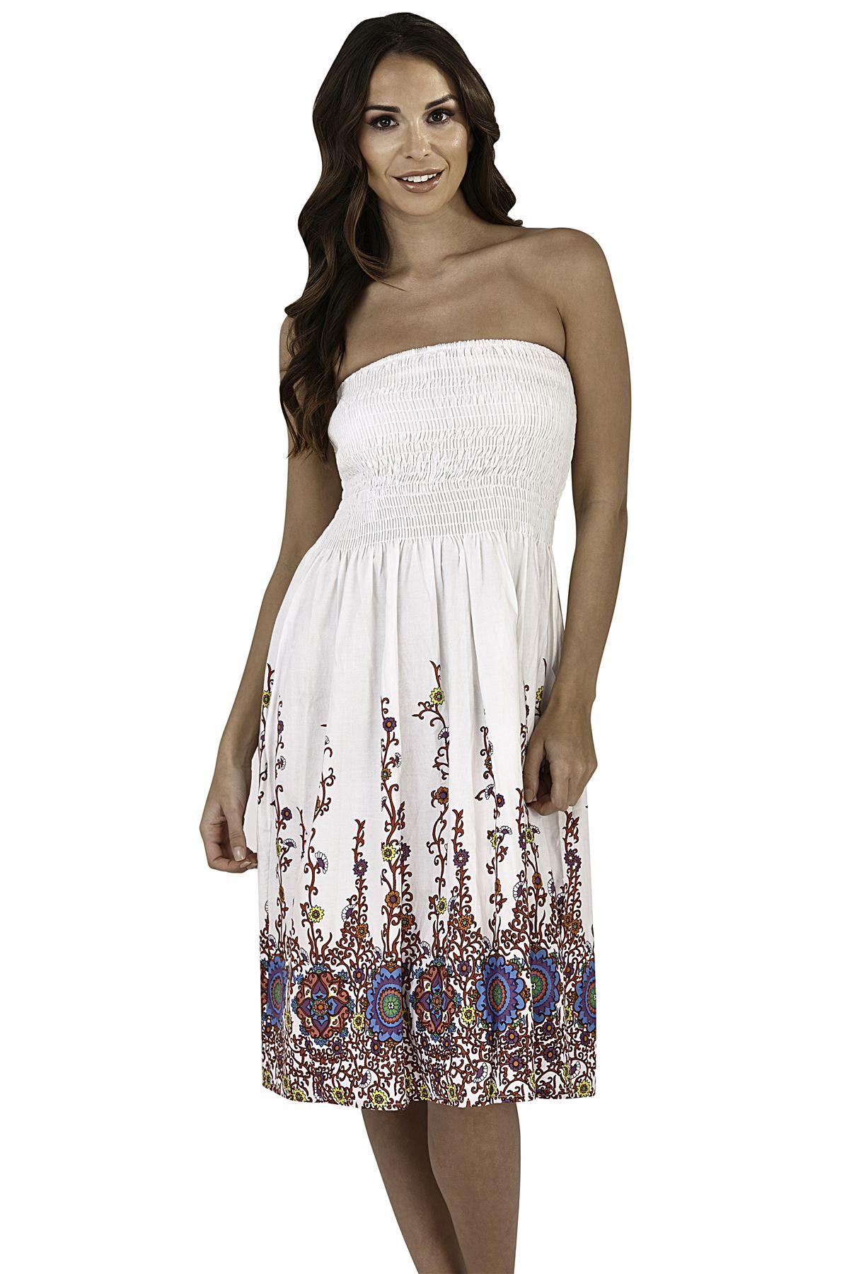 Ladies Pistachio Cotton 3 Way Halter//Bandeau//Skirt Summer Dresses