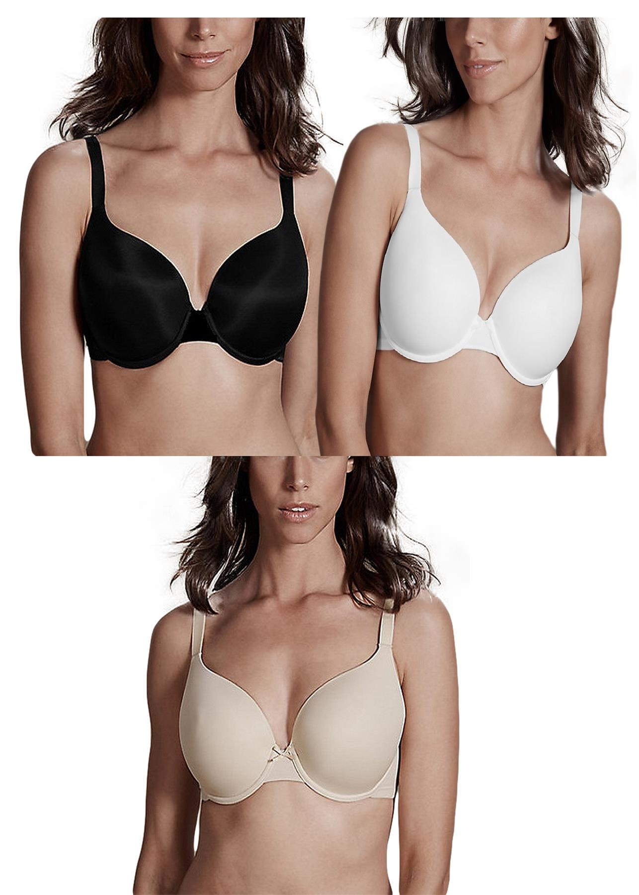 Beauforme Full Moulded Cup T Shirt Bra Detachable Straps Style 42 Size 32-40