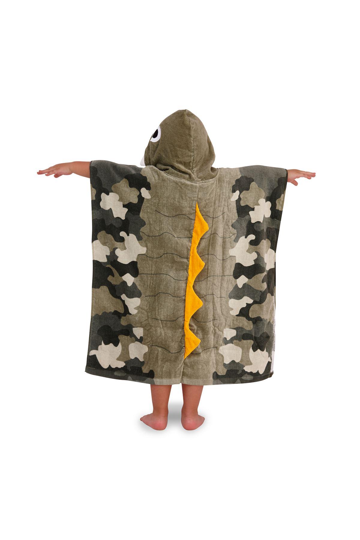 Childrens-Kids-Boys-Girls-Novelty-Hooded-Poncho-Swimming-Swim-Bath-Beach-Towel thumbnail 7