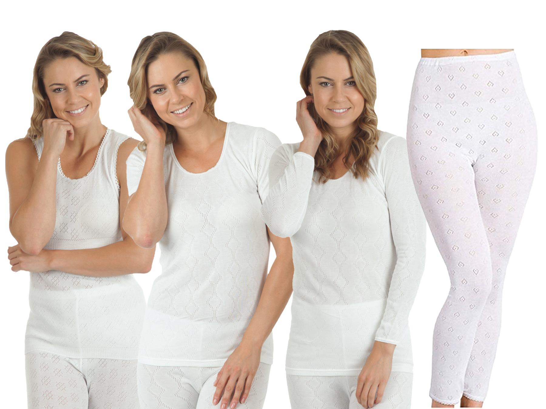 Short Womens 2 Pack Thermal Underwear Long Sleeveless Top and Long Johns