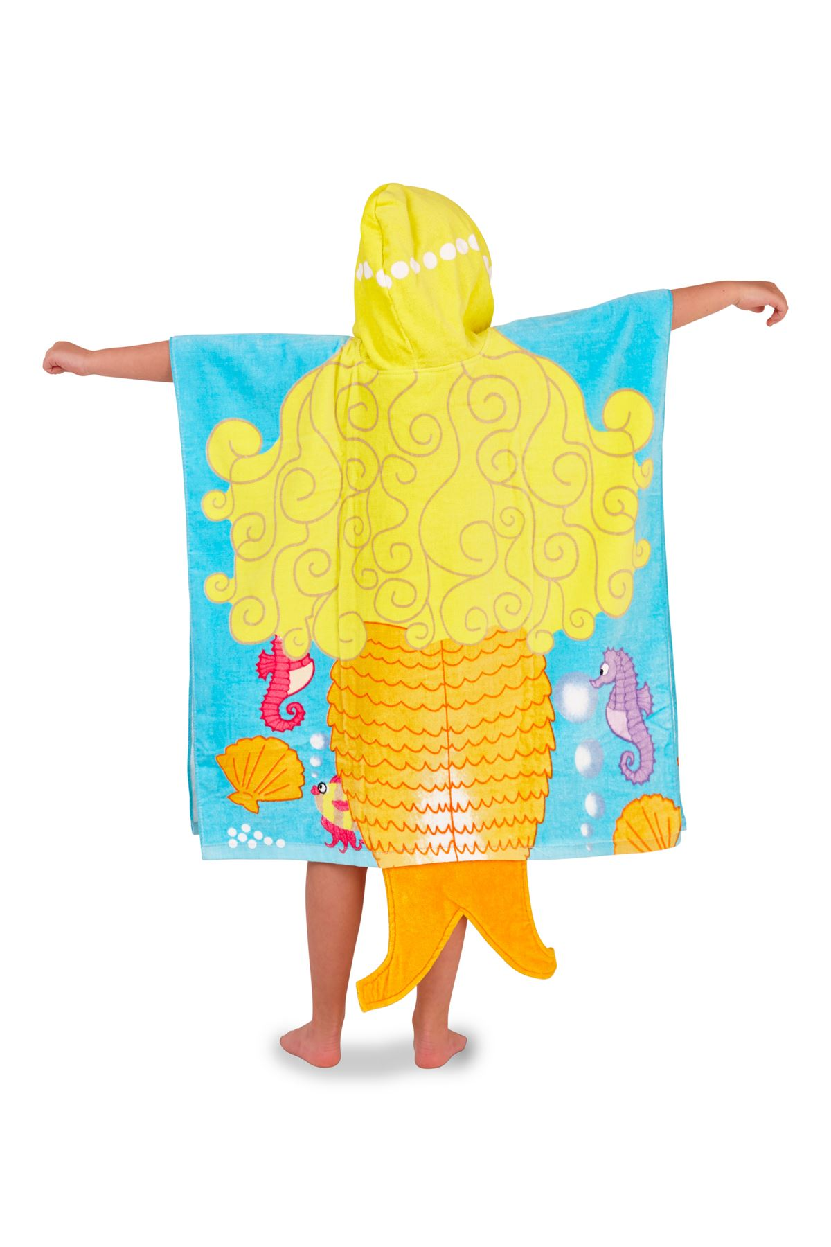 Childrens-Kids-Boys-Girls-Novelty-Hooded-Poncho-Swimming-Swim-Bath-Beach-Towel thumbnail 13