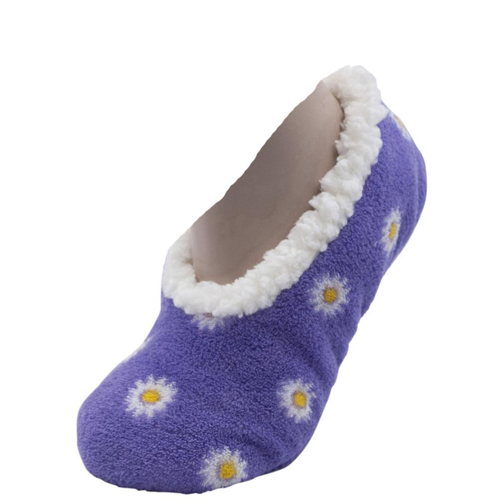 Womens 3D Scotty Dog Fleece Ballet Slippers Mules Faux Fur Lined Bed Socks Size