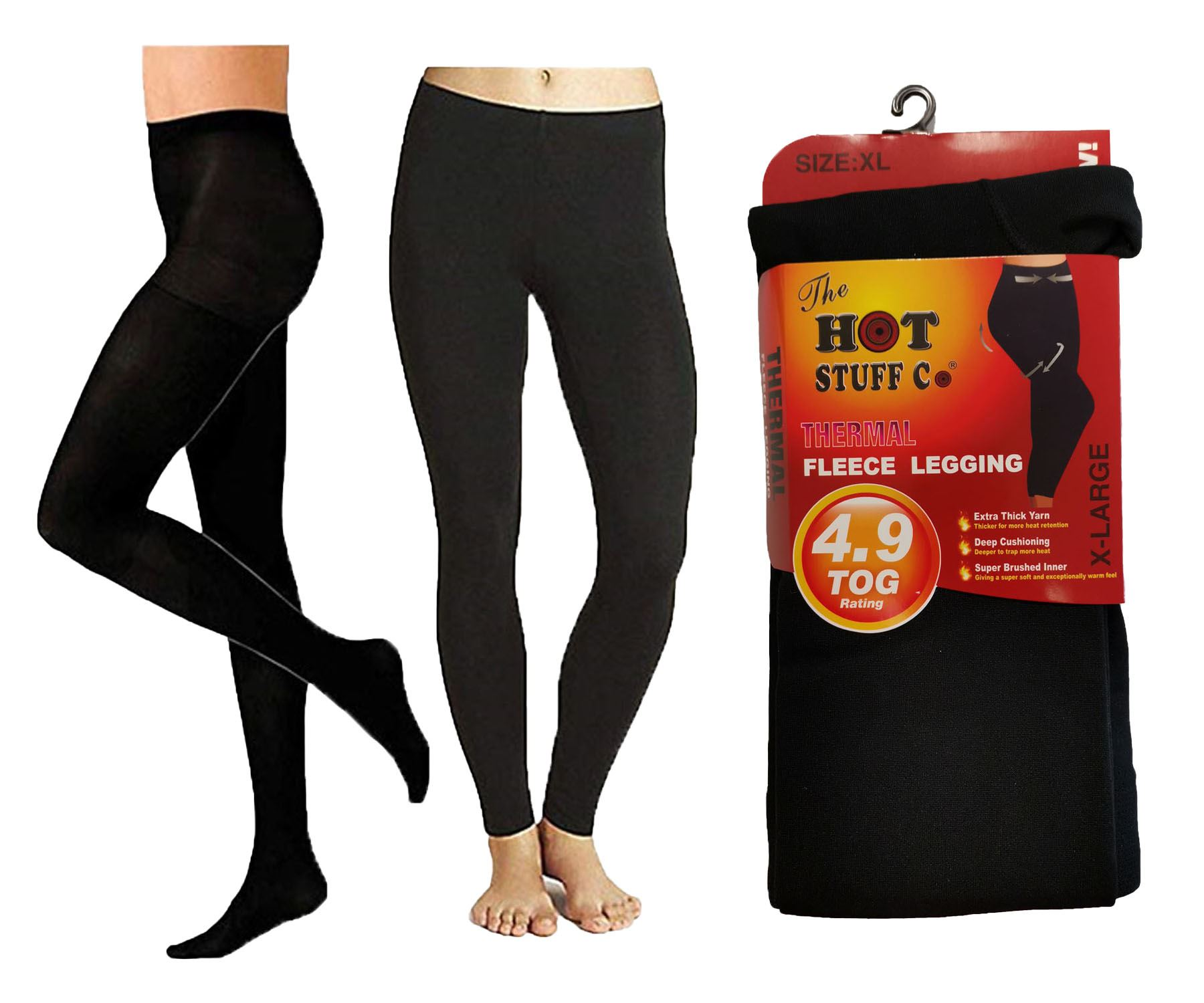 Ladies Thermal Fleece Lined Thick Full Foot Tights