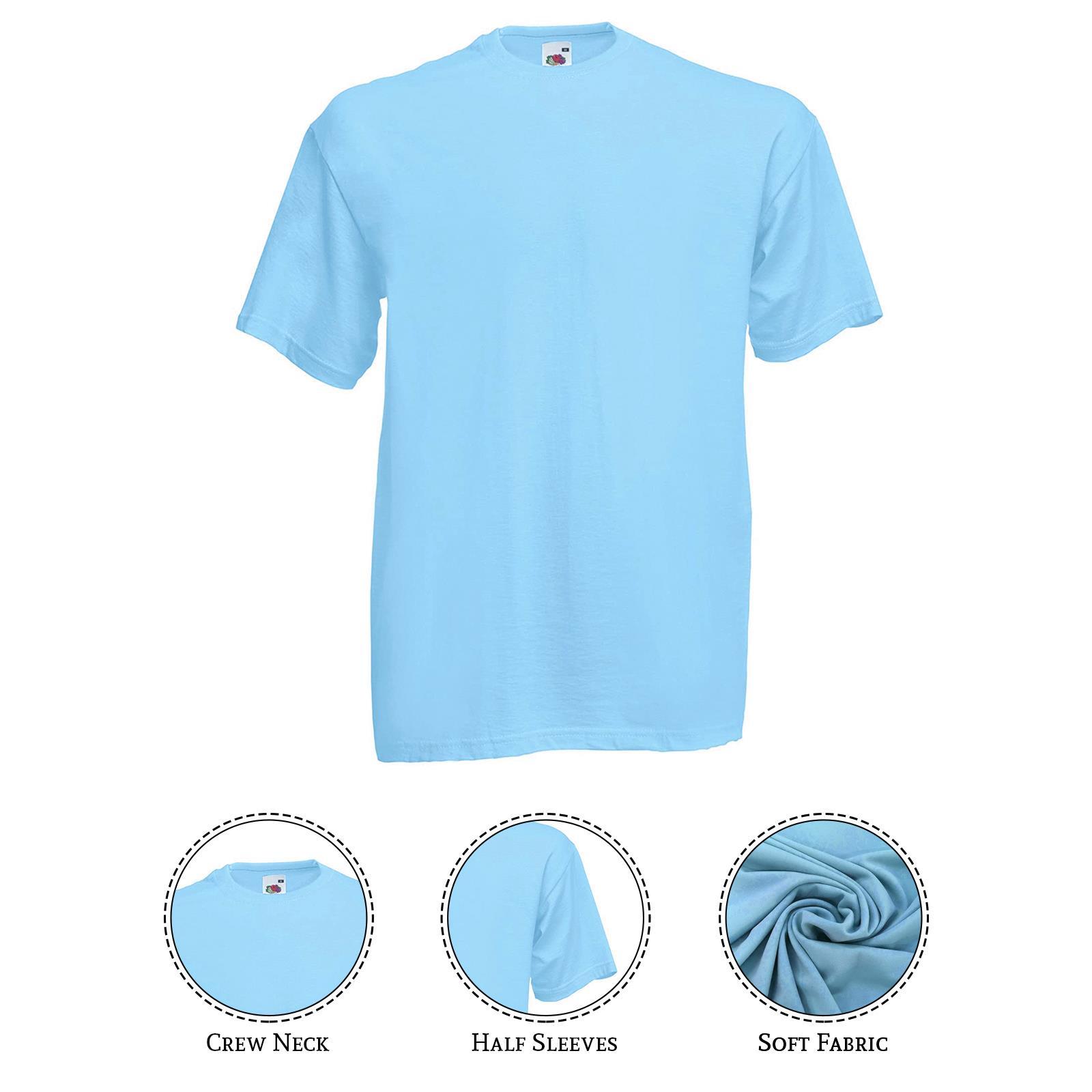 thumbnail 39 - Men-s-Fruit-Of-The-Loom-T-Shirt-Original-100-Cotton-Casual-Plain-Top-Tee