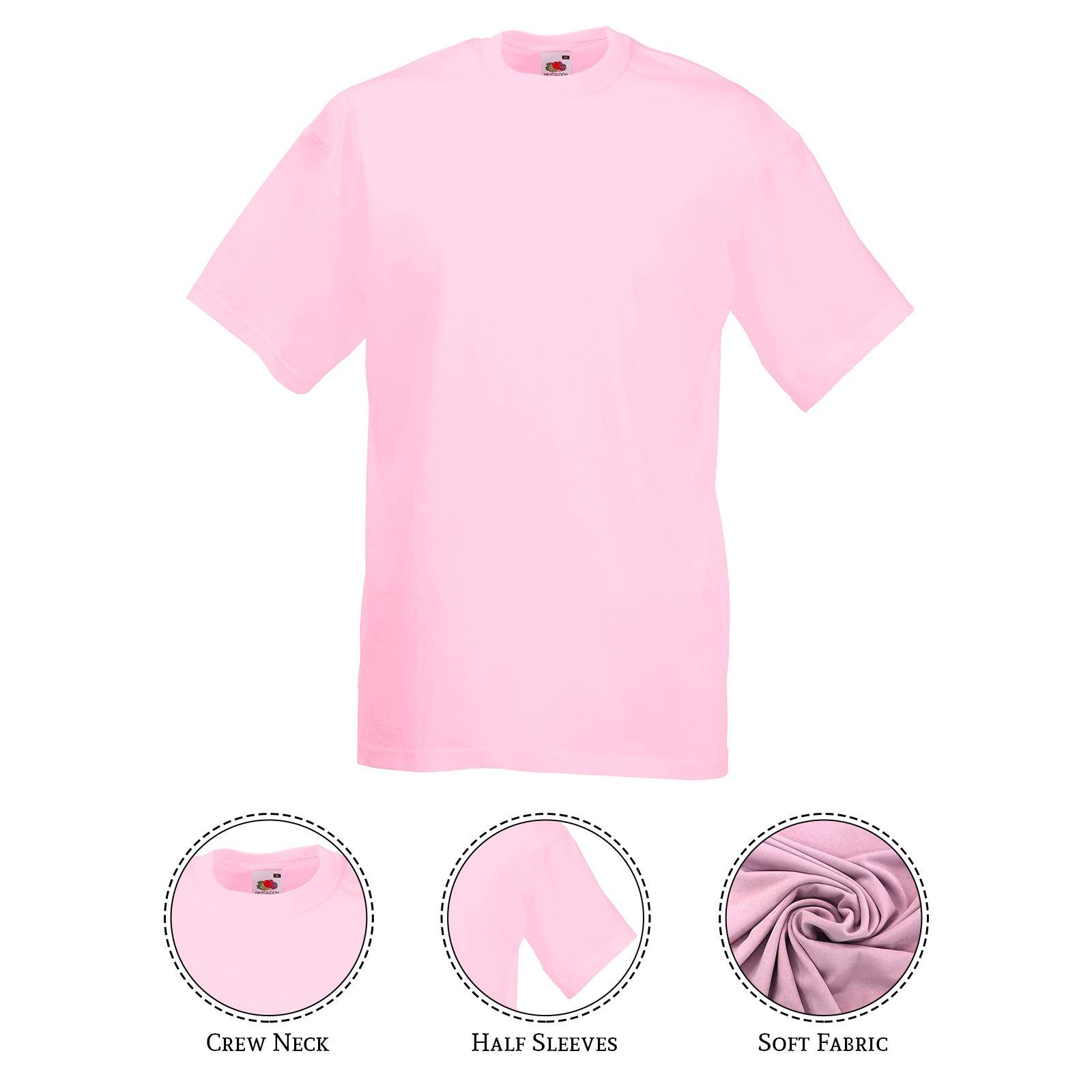 thumbnail 35 - Men-s-Fruit-Of-The-Loom-T-Shirt-Original-100-Cotton-Casual-Plain-Top-Tee